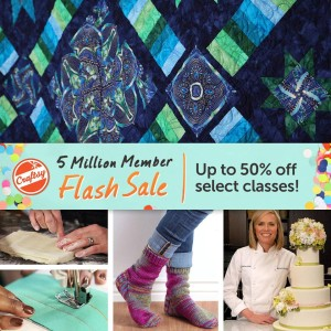 Craftsy's Flash Sale Quilting Classes
